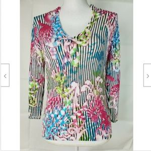 Alberto Makali Top Pink Shirt Small Stretch 3/4